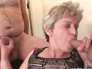 granny three-some action aged older porn granny