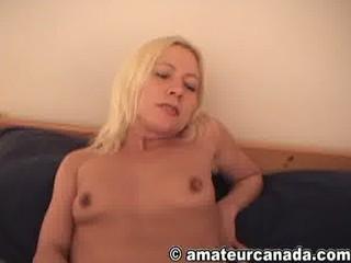 ex-wifey blond homemade solo masturbation joy