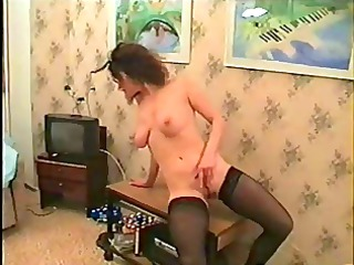 sexy russian mother i gives undress show and