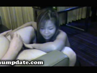 oriental wife gives blowjob and receives