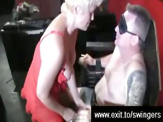 swinger suprise for blond mamma tracey