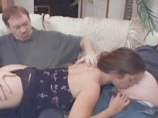 amateur wench wife used by porno chaps in a home