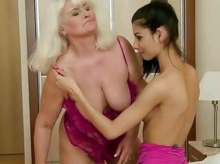 busty grandma has hawt sex with cute legal age