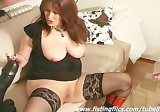 monster sex toy fucking non-professional wench
