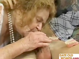 granny gets threesome sexual action