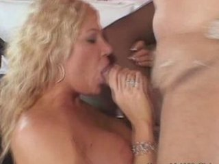 excited golden-haired wife craved for a massive