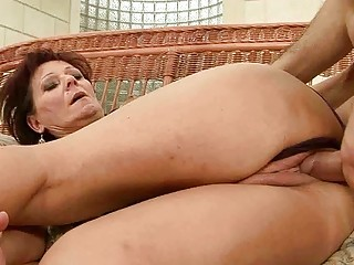 sexy granny enjoys hard sex with her lover