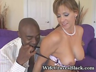 chick worships biggest darksome cock