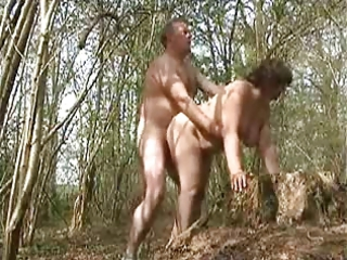my wife drilled in the forest by a stranger
