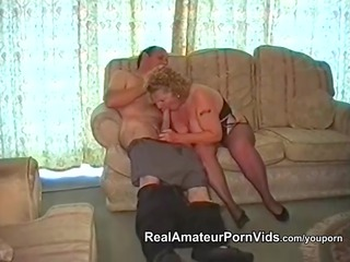 a overweight granny has sex with her husband