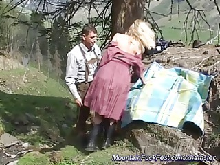 hard anal fuck in the mountain