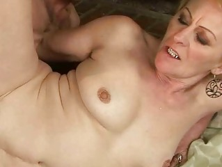 granny enjoys naughty sex with a lad