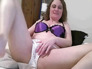 mature in satin pants