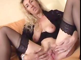 wicked older blond spreads her love tunnel lips