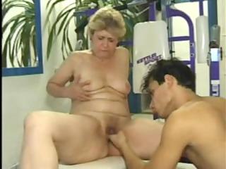 granny copulates in the gym