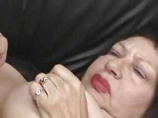 chunky breasty granny fingers and fucks