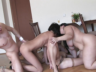 older floozy mommys drilled by one strapping