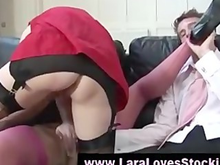 british sweethearts showing off nylons