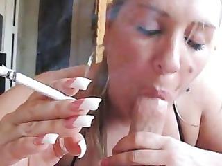milf smoking bj