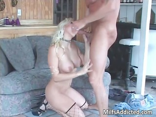 superb golden-haired hot d like to fuck smokes
