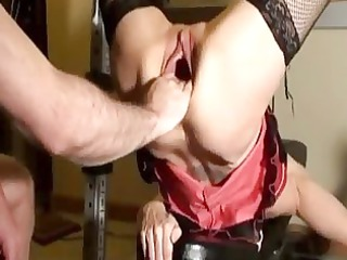 horny mother i fist drilled in her gaping wet