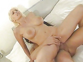 enormous chested blonde mother i rides hard tool