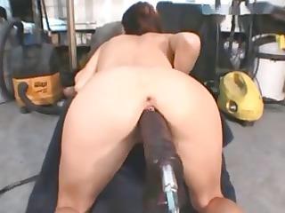 large dildo machine fuck